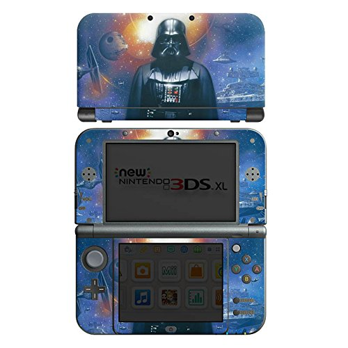 Nintendo New 3DS XL Case Skin Sticker aus Vinyl-Folie Aufkleber Star Wars Merchandise Fanartikel The Dark Side