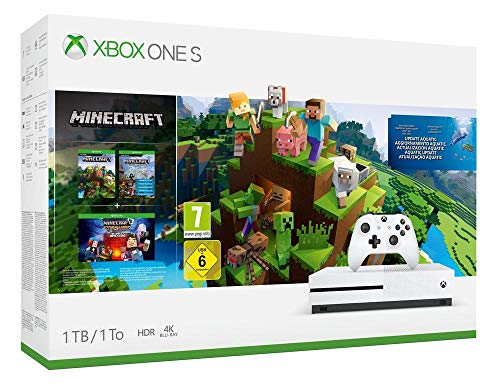 Xbox One S 1TB Minecraft Creators Pack + 1M GamePass [Bundle]