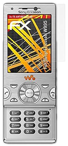 Sony-Ericsson W995 Displayschutzfolie - 3 x atFoliX FX-Antireflex-HD hochauflösende entspiegelnde Schutzfolie