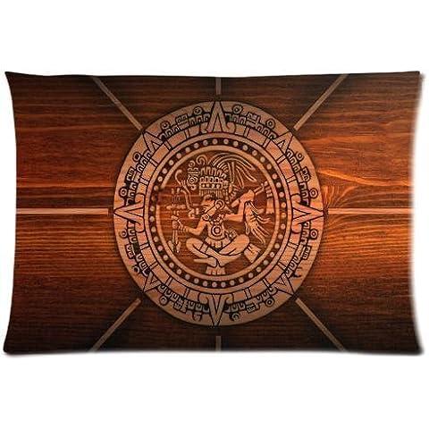 Motivo popolare PbP personalizzata Maya calendario, federe cuscino rettangolare, 50,80 x 76,20 (20