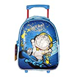 Handcuffs Disney Doremon 5D Embossed Polyester Trolley/Travel Bag Rolling Backpack
