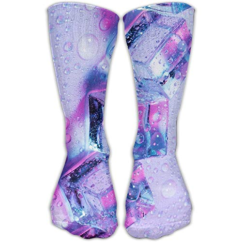 CVDGSAD Purple Ice Rain Outdoor Running Long Socks Novelty High Athletic Sock Unisex Purple Rain Boot