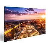 islandburner, Bild auf Leinwand Sonnenuntergangsstrand bei