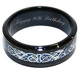 Luxus Gravur Gifts UK Happy 90th Birthday Personalisierte Herren-Ring Größen R S T U V W x Y Z in Geschenk-Box–br385a