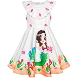 Best Richie House Dress For Kids - Sunny Fashion Girls Dress Mermaid Cartoon Princess Ruffle Review