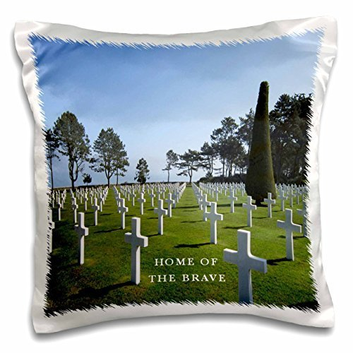 Florene France - Omaha Beach Normandie France WW II Cemetery - 16x16 inch Pillow Case