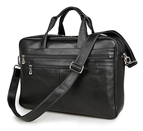 Jsix Homme sac à main besace CARTABLE Serviette EN Cuir sac à bandoulière Sac Porte-documents affaires Voyage (Marron) AFVb7gSBa