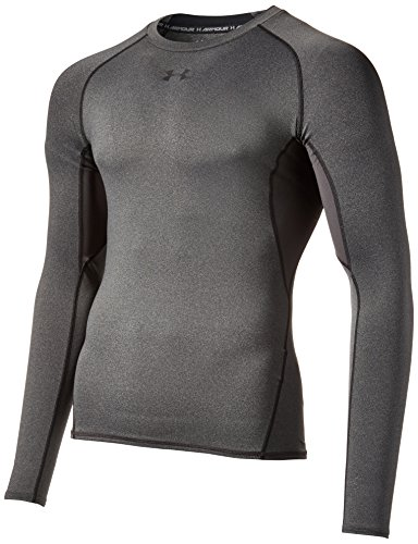 Under Armour Herren Unterhemd HeatGear Armour, Grau (carbon heather), Gr. XXL (Herstellergröße: XXL) (Heatgear Training)