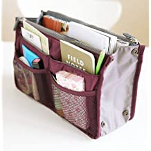 BES® Handbag Organiser Pouch Bag in Bag Insert Tidy Travel Cosmetic Pocket ® Handbag Pouch Bag in Bag Organiser Insert Organizer Tidy Travel Cosmetic Pocket, Various Colours (Wine)