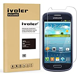 iVoler Verre Trempé Compatible avec Samsung Galaxy S3 Mini, Film Protection en Verre trempé écran Protecteur vitre
