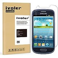 Samsung Galaxy S3 Mini Protector de Pantalla, iVoler® Protector de Pantalla de Vidrio Templado Cristal Protector para Samsung Galaxy S3 Mini - Dureza de Grado 9H, Espesor 0,20 mm, 2.5D Round Edge-[Ultra-trasparente] [Anti-golpe] [Ajuste Perfecto] [No hay Burbujas]- Garantía Incondicional de 18 Meses