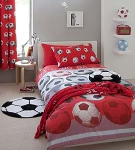 Rideaux 167,6x 182,9cm Football Rouge Blanc Noir