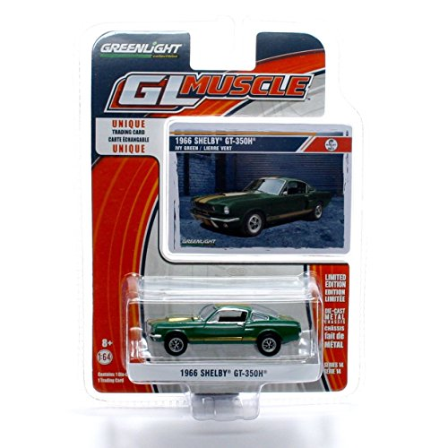 1966 SHELBY GT-350H (Ivy Green) * GL Muscle Series 14 * 2015 Greenlight Collectibles Limited Edition 1:64 Scale Die-Cast Vehicle & Collector Trading Card by GL Muscle