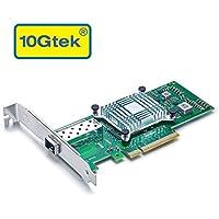10Gtek® Intel 82599ES Chip 10Gb Adaptador de red convergente Ethernet (NIC), puerto SFP +, PCI Express 2.0 X 8, igual que X520-DA1