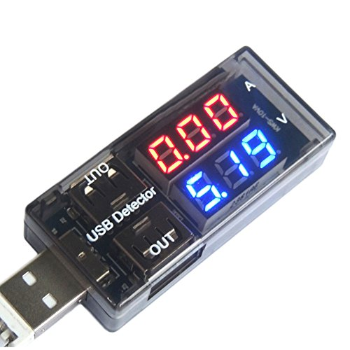 Woopower 10MV USB-Multi-Meter//Spannung Tester/Akku Tester/Ampere Meter (0a-3a), Spannung (3V-9V), USB Charger Doctor Current Spannung Ladekabel Rauchmelder Akku Voltmeter Amperemeter