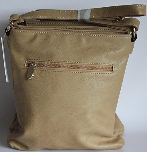 H&G Ladies Designer Messenger  borsa a tracolla da DL accessori �?Parigi Taupe_