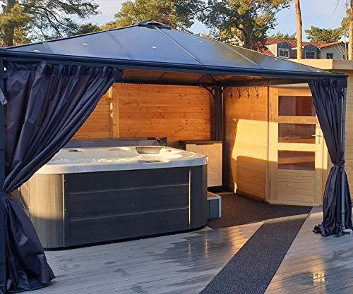 Outdoor Whirlpool Hot Tub Venedig Farbe weiß mit 44 Massage Düsen + Heizung + Ozon Desinfektion + LED Beleuchtung für 5 – 6 Personen für für Garten / Terasse / Außen - 4