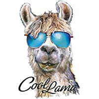 Color Bügeltransfer, DIN A4, Lama-Serie | Textilien wie T-Shirts & Taschen mit Bügelmotiven verzieren | Bügel-Bilder schnell & einfach aufbügeln | DIY Textildesign - Cool Lama