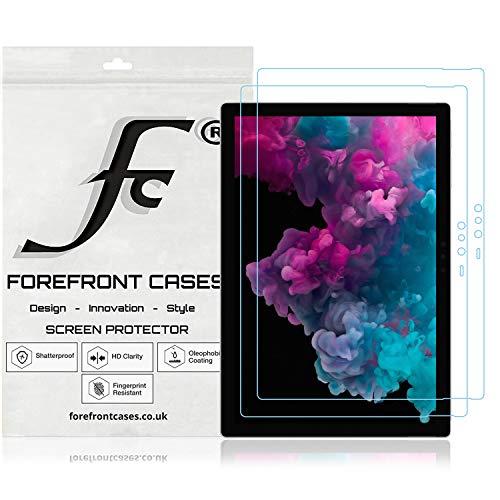 Forefront Cases Microsoft Surface Pro 6 12,3 Zoll Displayschutz Displayschutzfolie [2 STÜCK] | Ultraharte Polyethylenterephthalat (PET) Kunststoff | Ultradünn 0.1mm Staub & Kratzfest | HD-Qualität