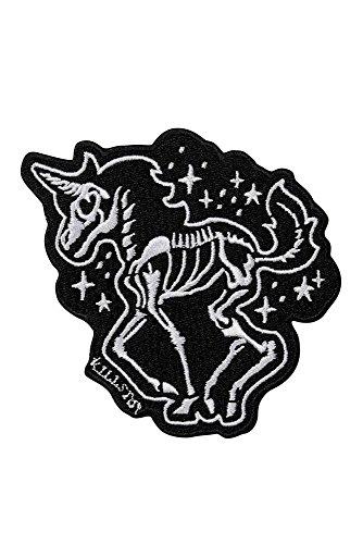 Killstar Aufnäher/Patch Unicorn Space Bones zum Aufbügeln
