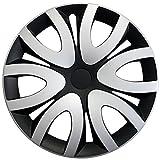Radkappen / Radzierblenden 16 Zoll MIKA SCHWARZ-SILBER (Farbe wählbar) passend für fast alle Fahrzeugtypen - universal