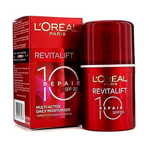L'Oreal Paris Revitalift 10 Repair Multi-Active Daily Moisturiser SPF20, 50