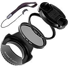 Lumos Complete Objetivo Accesorios 55mm | Parasol UV Protector de filtro Filtro Polarizador Lente Tapa & soporte | para su cámara objetivo con rosca filtro de 55mm