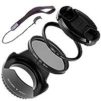 Lumos Complete Objetivo Accesorios 55mm | Parasol UV Protector de filtr...