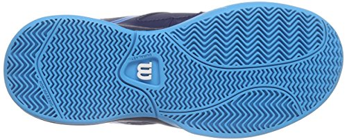 Wilson ENVY JR, Chaussures de Tennis mixte enfant Multicolore (DEEP WATER/NAVY WILSON/SCUBA BLUE)