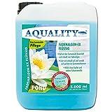 AQUALITY Gartenteich Fadenalgen-EX Flüssig (GRATIS Lieferung in DE - Flüssiger Fadenalgenvernichter, Algenmittel, Algenentferner. Löst Sich schnell im Teich auf), Inhalt:5 Liter