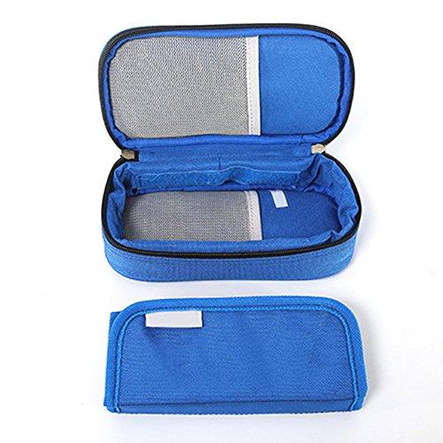 Enshey borsa termica freddo per insulina medicinali per diabete siringhe, l'insulina e farmaci (blu)