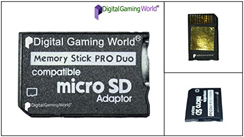 Digital Gaming World® Micro SD To Pro Duo Adapter Converter For PSP 1000/2000/3000 and E-1000, E-1004 Series