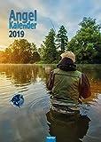Angelkalender 2019 Großformat Angelsport Tierkalender: Mit aufwendiger Rückseitengestaltung