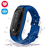 Navtour Fitness Armbanduhr Bluetooth 4.0 Fitness Tracker mit Herzfrequenzmesser, Schrittzähler, Kalorienzähler,Schlaf-Monitor,Wasserdicht IP67,GPS,Anrufen / SMS,Wecker,Smart Armband für Android ios