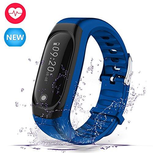 Navtour Fitness Armband Bluetooth 4.0,Wasserdicht IP67,Fitness Tracker mit Herzfrequenzmesser, Schrittzähler, Kalorienzähler,Schlaf-Monitor,Anrufen / SMS,Wecker,Smart Armband für Android ios