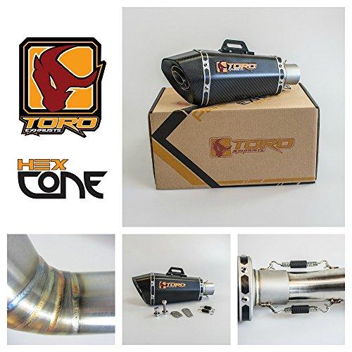 Toro T1 Hex Kit di scarico Cone Matt Moto Carbon - Honda CBR 600 F4I 2001-2006