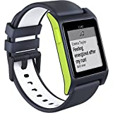 pebble 1002-00064 2 HR Smart Watch schwarz/Lime