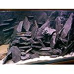 Aquarium Rock Fish Tank Decoration Slate 100% Natural Ideal For Caves BLACK SLATE 10kg Set 7