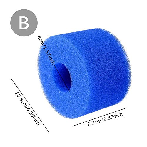 NAKELUCY 3 Wiederverwendbarer waschbarer Swimmingpool-Filter-Schaum-Schwamm, Pool-Filter-Reinigungs-Ausrüstungs-Schaum-wiederverwendbarer Schwamm-Patronen-Schaum-wiederverwendbarer heißer -