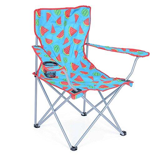 Folding Camping Chair Lightweight Beach Festival Outdoor Travel Seat Watermelon