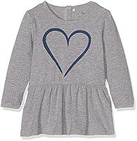 NAME IT Girls' Nitea Ls Tunic Mz Long Sleeve Top, Grey (Grey Melange), One Size (Manufacturer Size: 80)