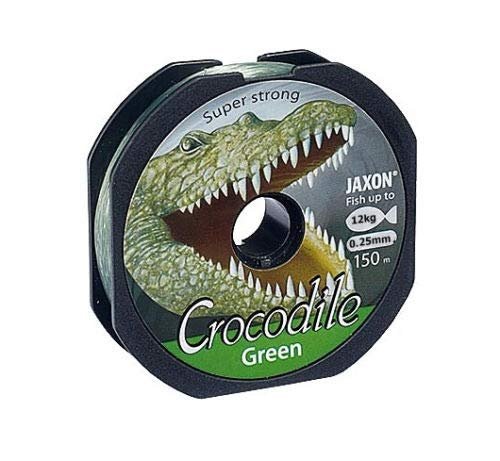 Jaxon Angelschnur Crocodile Green 150m / 0,14mm-0,40mm Spule Monofil (0,25mm / 12kg)