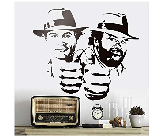 Wandaufkleber Lustiger Charakter Vinyl Applique Klassische Charakter Wandbild 65x57cm -