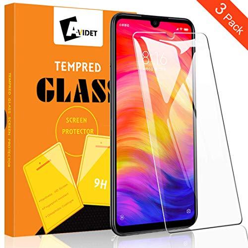 A-VIDET Panzerglas für Xiaomi Redmi Note 7, 9H Härte Schutzfolie Anti-Kratzer/Anti-Öl/Anti-Bläschen/Anti-Staub Bildschirmfolie Panzerglasfolie für Xiaomi Redmi Note 7 (3 Stück)