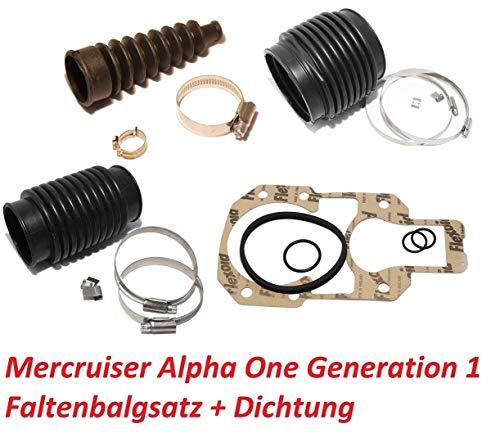 Saarwebstore Faltenbalgsatz Mercruiser Alpha One + Anbauchdichtung Z-Antrieb Balg
