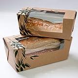 Sandwichschachteln 'Feel Green' Mit Sichtfenster - Popular 300 G/M2 18X7,7X7,7 Cm Havanna Feinkarton - pack 300 un.