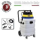EOLO ASPIRATORE ASPIRALIQUIDI ASPIRAPOLVERI ASPIRASOLIDI PROFESSIONALE CON FUSTO ANTIACIDO completo di accessori LP29 (90 litri) MADE IN ITALY