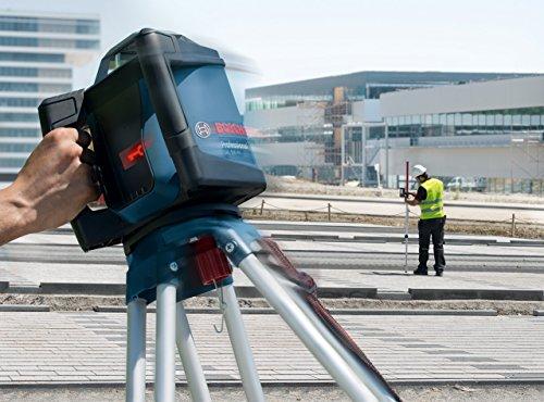 Bosch Professional 0601061B00 Professional GRL HV + LR 50, 500 m (Durchmesser) Arbeitsbereich mit Empfänger, Halterung, Schutztasche, Schnelllader, Transportkoffer, 850 W, 18 V