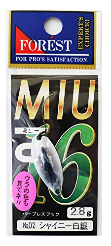 Forest MIU 2.8g 2016 Limited Color #02 Shiny White Silver