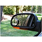 2PC BLIND SPOT MIRRORS TOWING BLINDSPOT REVERSING MIRROR CAR VAN SELF ADHESIVE